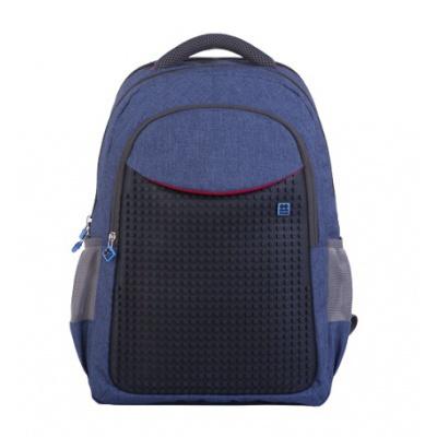 Kreativer Pixel Schulrucksack in blau PXB-05-E24