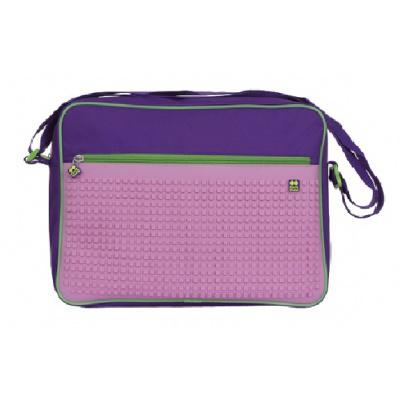 Kreative Pixel Umhängetasche lila und rosa PXB-03-F17