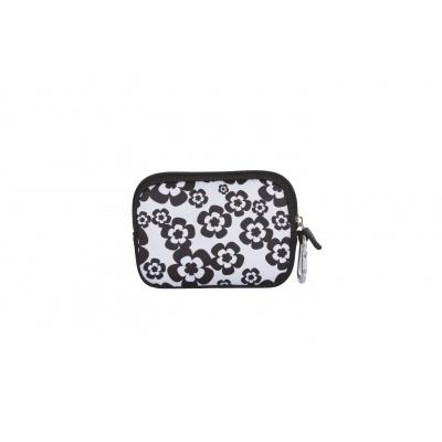 Kreatives Pixel Universaltäschchen PIXIE CREW Blüten in schwarz und weiß PXA-08-03