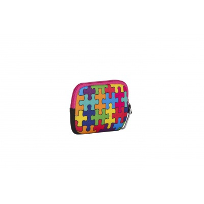 Kreatives Pixel Universaltäschchen PIXIE CREW buntes Puzzle PXA-08-09