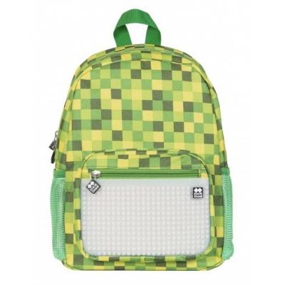 Kreativer Pixel Kinderrucksack grüner Würfel/weiß im Dunkeln leuchten PXB-18-04