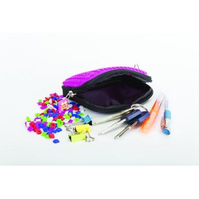 Kreatives Pixel Täschchen PIXIE CREW violette mit Punkten PXA-08-17