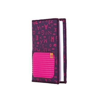 Kreatives Pixel Notizbuch im Umschlag mit lila ABC PXN-07