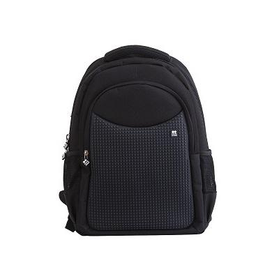 Kreativer Pixel Schulrucksack in schwarz PXB-05-L24