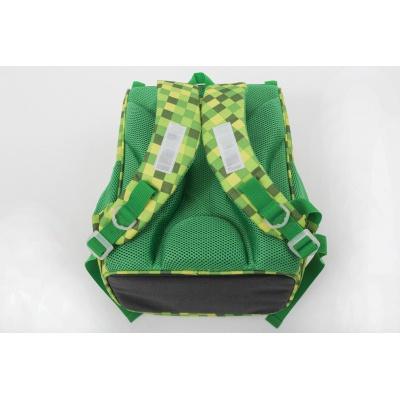 Schultasche PXB-22-D07 grün mit Würfeln