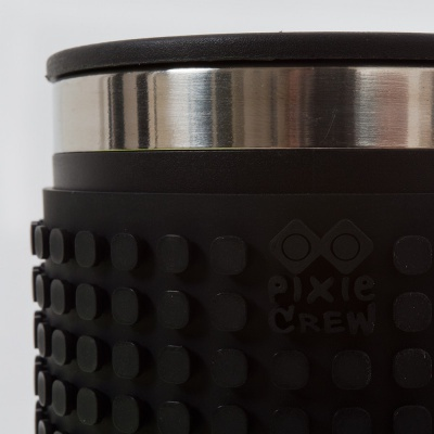 Kreative Pixel Thermotasse schwarz PXN-02-24