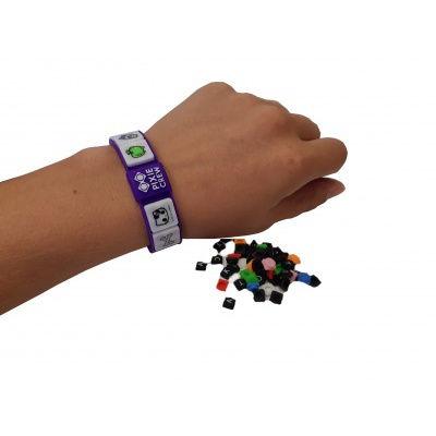 Kreatives Pixel Armband lila HELLO KITTY